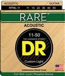 DR Strings RPML11 Rare Bronze Acoustic Guitar Strings 11-50