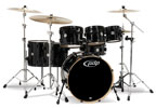 Pacific PDP Concept Maple 7 Piece Shell Kit Drums Pearlescent Black