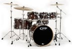 Pacific PDP Concept Maple 7 Piece Shell Kit Drums Transparent Walnut