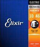 Elixir 12052 NanoWeb Electric Guitar Strings 10-46