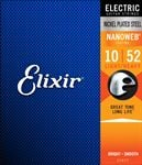 Elixir 12077 NanoWeb Electric Guitar Strings 10-52