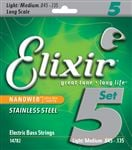 Elixir 14782 Nanoweb Stainless Steel 5-String Bass Set