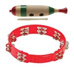 Stagg GUF141S Fish Shaped Wood Guiro With LPA191 Tambourine PAK