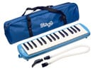 Stagg 32 Key Melodica with Gig Bag And Flexible Tube Mouthpiece Blue