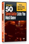 Guitar Lab 50 Shred Licks You Must Know Guitar Lesson DVD
