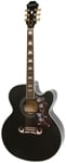 Epiphone EJ200CE Jumbo Cutaway Acoustic Electric Guitar Black