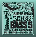Ernie Ball P02850 Super Long Scale Slinky Bass 5 Strings