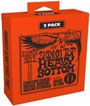 Ernie Ball P03215 Skinny Top Heavy Bottom Nickel Wound 3 Pack