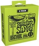 Ernie Ball P03221 Regular Slinky Nickel Wound 3 Pack