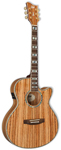 ESP LTD Xtone EW-Z Zebra Wood Acoustic Electric Guitar