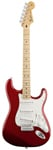 Fender Standard Stratocaster Maple Fingerboard Candy Apple Red