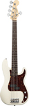 Fender American Standard Precision Bass V 5 String Olympic White with Case