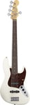 Fender American Standard Jazz V 5 Bass Olympic White with Case