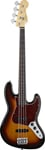 Fender American Standard Jazz Fretless Bass 3 Color Sunburst with Case