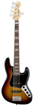 Fender American Deluxe Jazz V 5 String Bass 3 Color Sunburst with Case