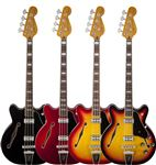 Fender Modern Player Coronado Bass Candy App Red