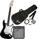 Squier Strat Pack w/10G Amp Black