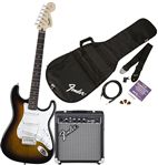 Squier Stop Dreaming Start Playing Set Brown Sunburst