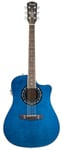 Fender T Bucket 300CE Acoustic Electric Guitar Transparent Blue Quilt