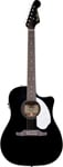 Fender Sonoran SCE Dreadnought Acoustic Electric Guitar Black