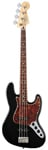 Fender Deluxe Active Jazz Electric Bass Guitar Black with Gig Bag