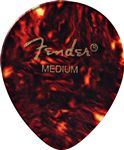 Fender 347 Shape Classic Celluloid Guitar Picks 12 Pack Shell Medium