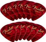 Fender 351 Premium Celluloid Guitar Picks 12 Pack Heavy