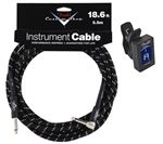 Fender Custom Shop Black Tweed Guitar Instrument Cable - Angled