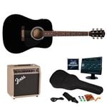 Fender FA 200 AE Guitar and Rock Prodigy Software Package