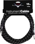 Fender Custom Shop Black Tweed Guitar Instrument Cable 15 Foot