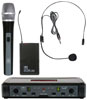 Galaxy Audio  ECDR/HHBPS UHF Handheld and Headset Wireless Mic System