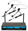 Gemini UHF216HL Dual Headset/Lapel Wireless System