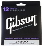 Gibson J200 Deluxe Phosphor Bronze Acoustic Guitar Strings Light