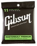 Gibson Masterbuilt Phosphor Bronze Acoustic Guitar Strings Ultra Light
