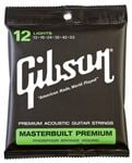 Gibson Masterbuilt Phosphor Bronze Acoustic Guitar Strings Light