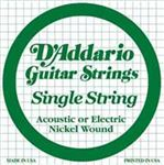 DAddario Nickel Wound Single Acoustic or Electric Guitar Strings