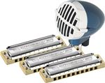 Hohner Master Blaster Pro Pack Harmonica and Mic Package