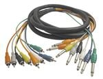Hosa Cable CPR802 8 Channel RCA To 1/4 Inch Recording Snake