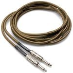 Hosa GTR518 Tweed Guitar Cable Straight 1/4 Inch to 1/4 Inch 18 Foot