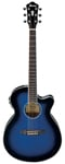 Ibanez AEG10II Acoustic Electric Guitar Trans Blue