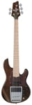 Ibanez ATK805E Premium 5 String Electric Bass with Bag Walnut Flat