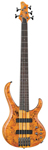 Ibanez BTB775PB 5 String Electric Bass Guitar Poplar Burl Amber