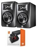JBL LSR305 3 Series 5 Inch 2 Way Full Range Powered Studio Monitors With Image Control Waveguide Pair