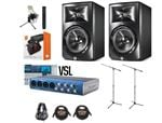 JBL LSR308 Studio Monitor And PreSonus AudioBox AB44VSL Recording Pack