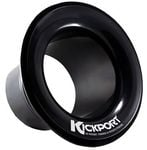 KickPort Sonic Enhancement Bass Drum Port Insert Black