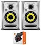 "KRK RP4G3 Rokit G3 4"" Powered Studio Monitor Package Silver"