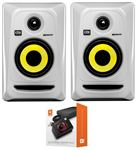 "KRK RP4G3 Rokit G3 4"" Powered Studio Monitor Package White"