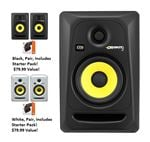 KRK RP5G3 Rokit 5 Generation 3  5 Inch 2 Way Full Range Powered Studio Monitor Single Monitor Only