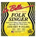 La Bella 830 Folk Singer Nylon Guitar Strings 2844