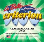 La Bella C750 Criterion Clear/Nylon Gold Alloy Classical Guitar Strings